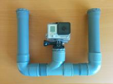 GoPro PVC mount assembled